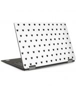 White and Black Hearts Dell XPS Skin