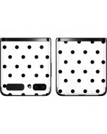 White and Black Polka Dots Galaxy Z Flip Skin