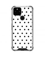 White and Black Polka Dots Google Pixel 5 Clear Case