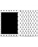 White and Black Polka Dots Apple iPad Skin