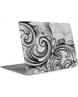 White Flourish Apple MacBook Air Skin