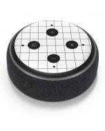 White Grid Amazon Echo Dot Skin