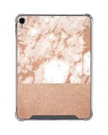 White Rose Gold Marble iPad Pro 11in (2018-19) Clear Case