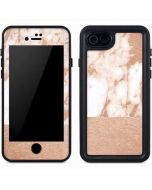 White Rose Gold Marble iPhone 8 Waterproof Case