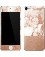 White Rose Gold Marble Apple iPod Skin