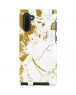 White Scattered Marble Galaxy Note 10 Pro Case