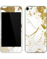 White Scattered Marble Apple iPod Skin