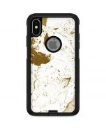 White Scattered Marble Otterbox Commuter iPhone Skin