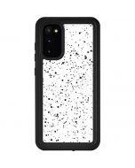 White Speckle Galaxy S20 Waterproof Case