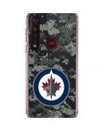 Winnipeg Jets Camo Moto G8 Plus Clear Case