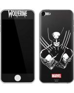 Wolverine Black and White Apple iPod Skin