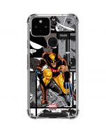 Wolverine Comic Strip Google Pixel 5 Clear Case