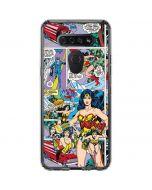 Wonder Woman Comic Blast LG K51/Q51 Clear Case