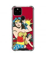 Wonder Woman in Action Google Pixel 5 Clear Case