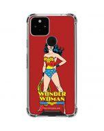 Wonder Woman Portrait Google Pixel 5 Clear Case