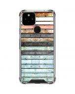 Wooden Stripes Google Pixel 5 Clear Case