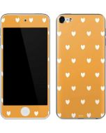 Yellow and White Hearts Apple iPod Skin