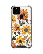 Yellow Sunflower Google Pixel 5 Clear Case