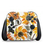 Yellow Sunflower Nintendo Switch Joy Con Controller Skin