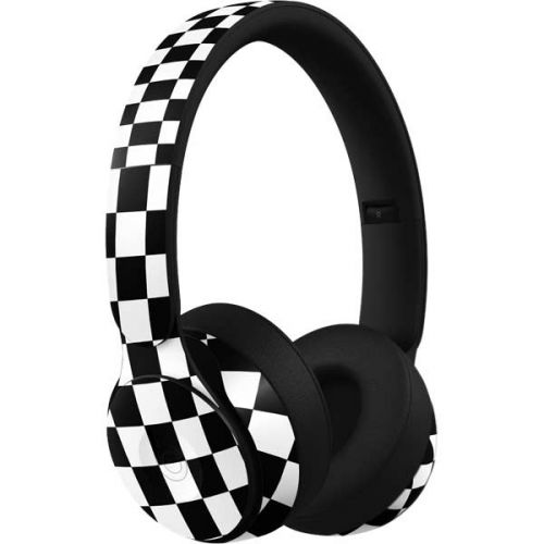 Black And White Checkered Beats Solo Pro Skin
