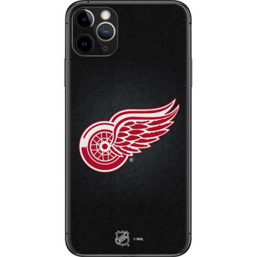 Detroit Red Wings Black Background Iphone 11 Pro Max Skin Nhl