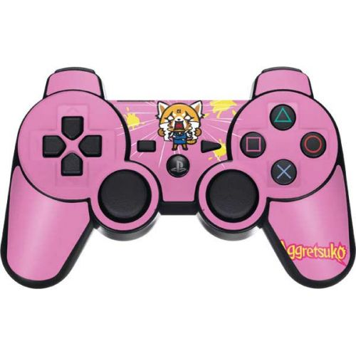 Skinit Decal Gaming Skin for PS3 Dual Shock Wireless Controller Officially Licensed Sanrio Aggretsuko Karaoke Queen Design