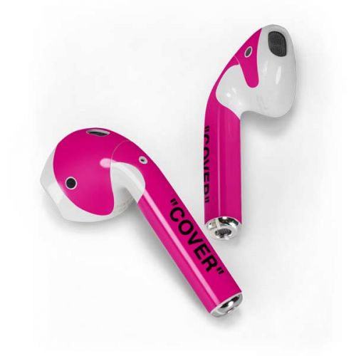 Black and Pink Arrows Apple AirPods 2 Skin