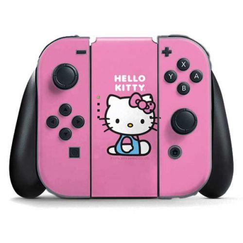 Hello Kitty Sitting Pink Switch Joy Con Controller Skin Sanrio