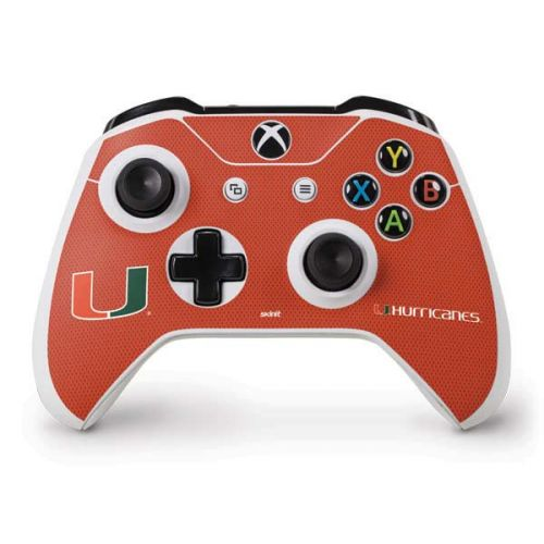 best service a87b4 3a6ed Miami Hurricanes Jersey Xbox One S Controller Skin