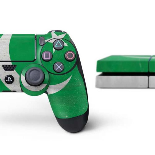 Pakistan Flag Distressed PS4 Console and Controller Bundle Skin