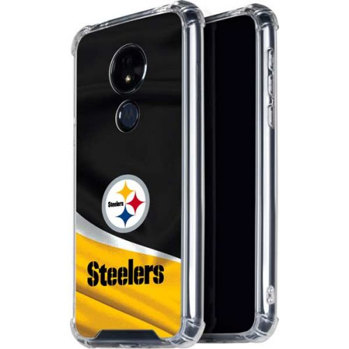 Pittsburgh Steelers Moto G7 Power Clear Case