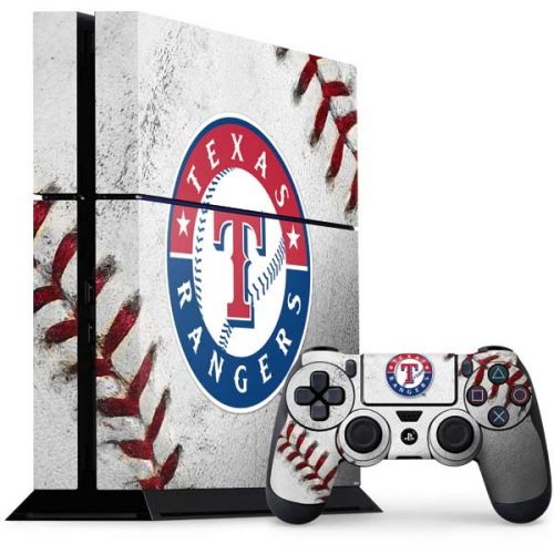 Texas Rangers Game Ball Ps4 Console And Controller Bundle Skin Mlb