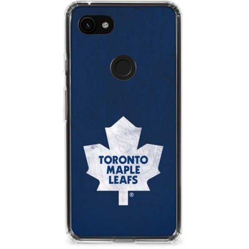 Toronto Maple Leafs Distressed Pixel 3a Clear Case Nhl