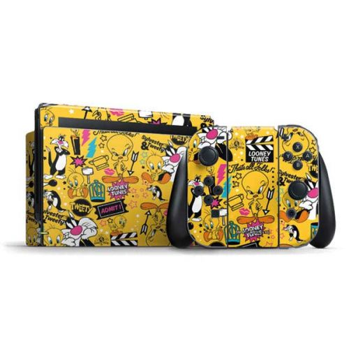 Tweety and Sylvester Patches Nintendo Switch Bundle Skin