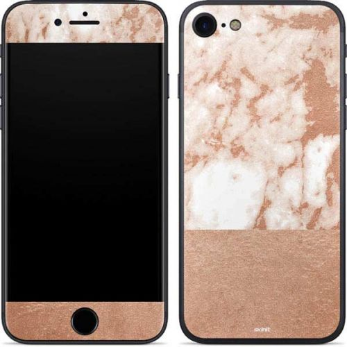 White Rose Gold Marble Iphone 8 Skin