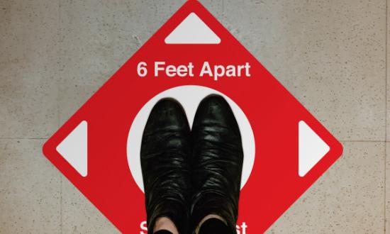 Shop 6 Feet Apart Floor Decals