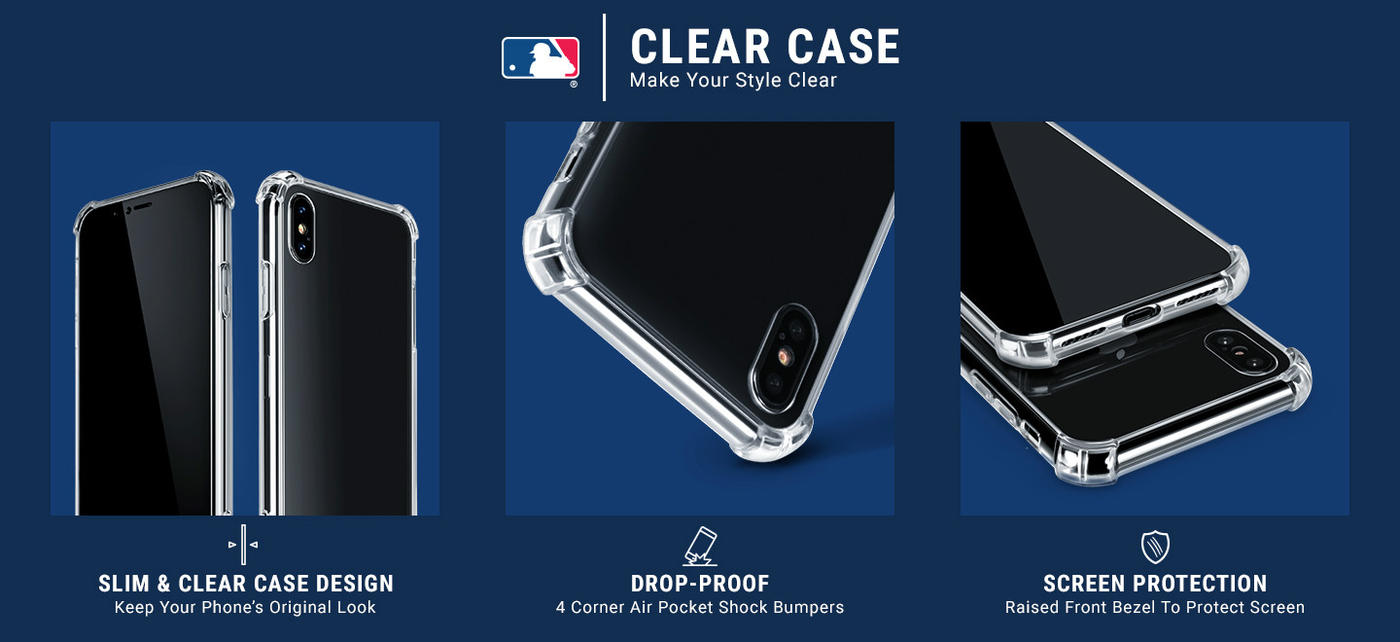 Los Angeles Dodgers - Primary Logo Blast Moto G5S Plus Clear Case 5