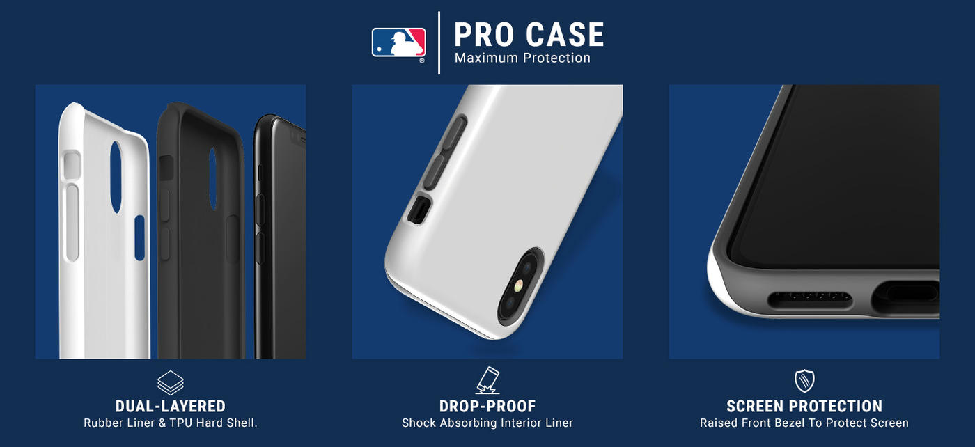 Toronto Blue Jays Monotone iPhone XR Pro Case 5