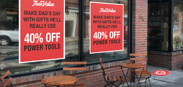 Shop Business Decal Signs
